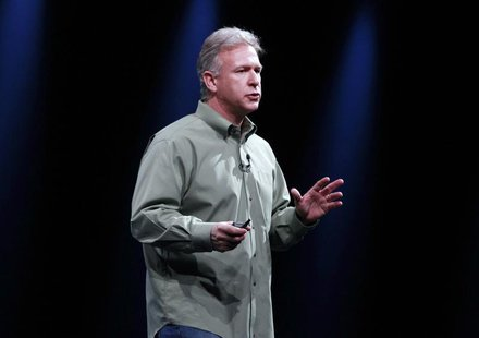 Phil Schiller, senior vice president of worldwide marketing at Apple Inc., speaks during the Apple Worldwide Developers Conference 2012 in S