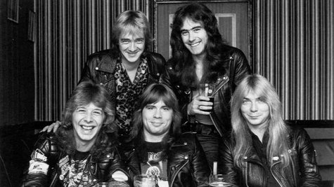 Image courtesy of Clive Burr, lower left: Image courtesy of IronMaiden.com (via ABC News Radio)