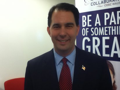 Governor Scott Walker at Collaborative Consulting-Wausau for their first anniversary, celebrating over 70 new jobs with more on the way.