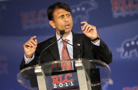 Governor Bobby Jindal (R-LA) speaks during the Republican Leadership Conference in New Orleans, Louisiana June 17, 2011. REUTERS/Sean Gardne