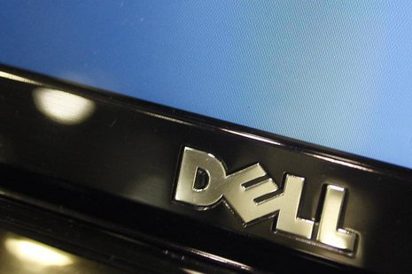 A Dell computer logo is seen on a laptop at Best Buy in Phoenix, Arizona, February 18, 2010. Dell Inc is expected to releases its fourth qua