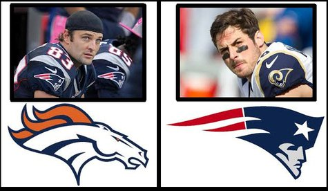 Wes Welker (left) now a Bronco  Danny Amendola (right) now a Patriot