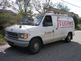 Frontier Communications service truck