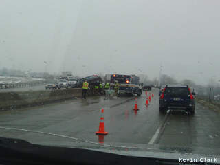 Crews work at the scene of a crash on Hwy. 441/10 in Winnebago County, March 15, 2013. (courtesy of FOX 11).