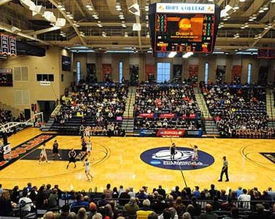 NCAA Final Four women's basketball action at DeVos Fieldhouse (photo courtesy Hope College)