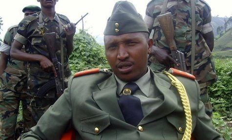General Bosco Ntaganda addresses a news conference in Kabati, a village located in Congo's eastern North Kivu province, January 8, 2009. REU