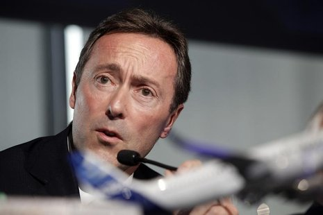 Fabrice Bregier, Airbus President and Chief Executive Officer attends the Airbus annual news conference in Toulouse, January 17, 2013. REUTE