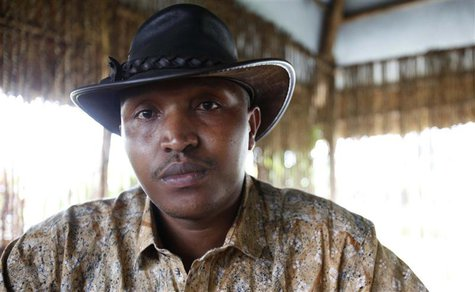 Indicted war criminal Bosco Ntaganda poses for a photograph during an interview with Reuters in Goma, Democratic Republic of Congo, October