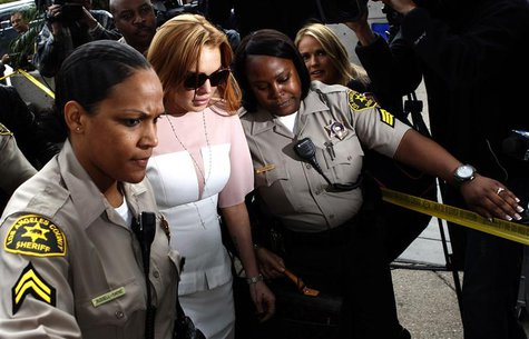 Actress Lindsay Lohan arrives for court at the Airport Branch of the Los Angeles Superior Courthouse in Los Angeles, California March 18, 20