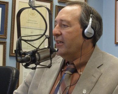 "State Rep. Roger Victory (R-Hudsonville) in an appearance on WHTC's ""Talk of the Town"" program on Mar. 18, 2013."