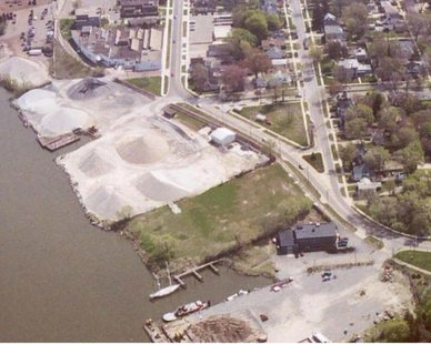 Aerial view of Western Machine Tool Works site in Holland (photo courtesy city of Holland)