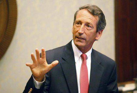 Former South Carolina Governor Mark Sanford addresses the media at a news conference at the State House in Columbia, South Carolina Septembe