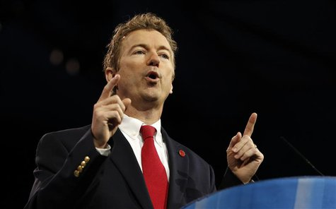Senator Rand Paul of Kentucky speaks at the Conservative Political Action Conference (CPAC) at National Harbor, Maryland March 14, 2013. REU