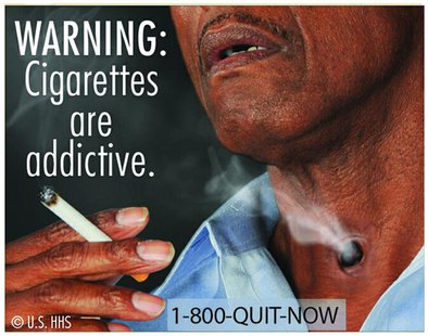 New graphic cigarette packaging, released by the U.S. Food and Drug Administration June 21, 2011, shows a varied collection of dead bodies,