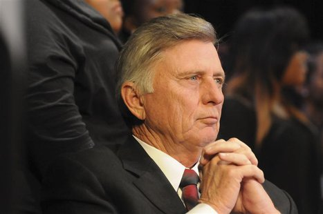 Arkansas governor Mike Beebe looks on during a Martin Luther King Jr. service in Little Rock, Arkansas in this January 15, 2013 Governor's o