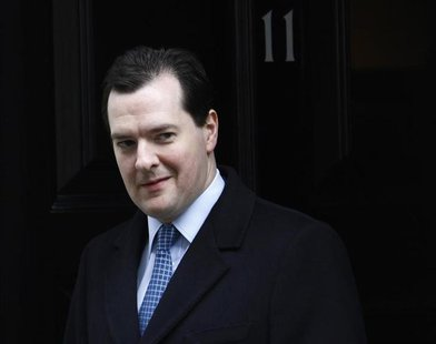 Britain's Chancellor of the Exchequer George Osborne leaves Downing Street in London March 18, 2013. REUTERS/Luke MacGregor