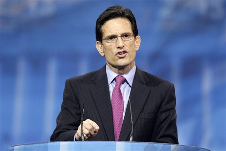 U.S. House Majority Leader Eric Cantor (R-VA) speaks to the Conservative Political Action Conference (CPAC) in National Harbor, Maryland, Ma