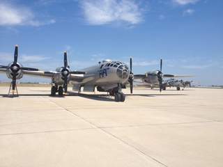 Commemorative Air Force B-29 Superfortress on the tarmac at Outagamie County Regional Airport. (courtesy of FOX 11).