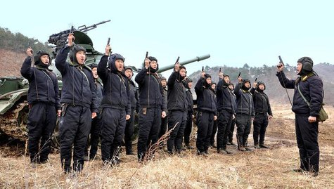 North Korean soldiers attend military drills in this picture released by the North's official KCNA news agency in Pyongyang March 20, 2013.