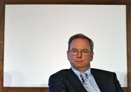Google Executive Chairman Eric Schmidt attends a function on catalysing tech Start-ups in India by NASSCOM, in New Delhi March 20, 2013. REU