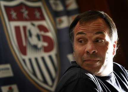 Former United States national soccer team coach Bruce Arena addresses a World Cup news conference in Hamburg in this June 23, 2006 file phot