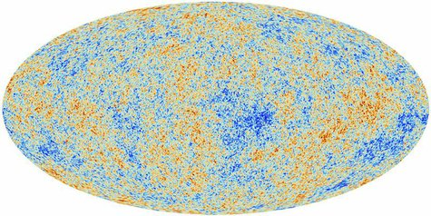 An image of the anisotropies of the Cosmic microwave background (CMB) as observed by Planck is seen in this handout released March 21, 2013