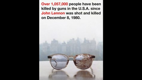 Image courtesy of Image Courtesy of Yoko Ono via Twitter (via ABC News Radio)