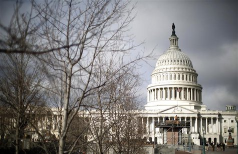 The U.S. Capitol Building is pictured in Washington, February 27, 2013. Pressure is mounting on Congress and the White House to find a way t