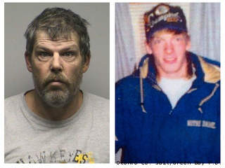 Peter Hanson (left) has been charged in connection with the 1998 death of Chad McLean (right).