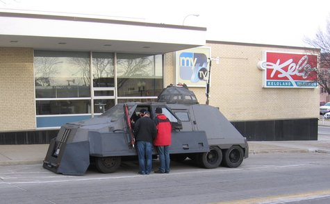 The TIV 2 (Tornado Intercept Vehicle) on display in Sioux Falls - KELO News Photo