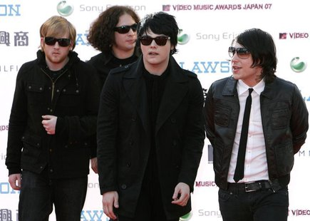 Members of the U.S. rock band My Chemical Romance arrive at the MTV Video Music Awards Japan 2007 in Saitama, north of Tokyo, May 26, 2007.