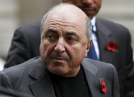Russian oligarch Boris Berezovsky arrives at a division of the High Court in central London in this November 3, 2011 file photo. REUTERS/And