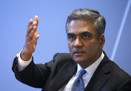 Anshu Jain, Co-Chairman of the Management board and the Group Executive Committee of Germany's largest business bank, Deutsche Bank AG gestu