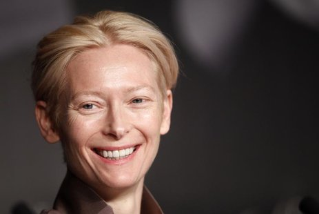 "Cast member Tilda Swinton attends a news conference for the film ""Moonrise Kingdom"", by director Wes Anderson, in competition at the 65th Ca"