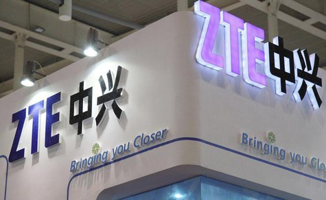 ZTE company logos are seen at an international software and information services exhibition in Nanjing, Jiangsu province September 6, 2012.