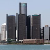 The city of Detroit skyline, including General Motors Global Headquarters, is seen along the Detroit River from Windsor, Canada June 15, 201