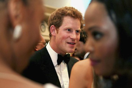 Britain's Prince Harry attends the Sentebale gala dinner in Johannesburg, February 27, 2013. REUTERS/Moeletsi Mabe/Pool