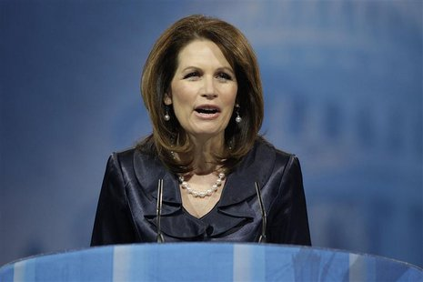 U.S. Representative Michele Bachmann (R-MN) speaks to the Conservative Political Action Conference (CPAC) in National Harbor, Maryland, Marc