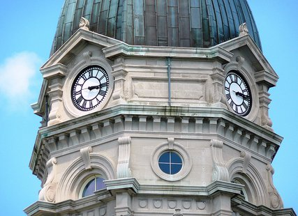 Vigo County Court House Dome and Clock Face