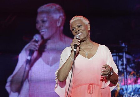 Dionne Warwick performs during the Jamaica Jazz and Blues festival in Trelawny, January 26, 2013. Picture taken January 26, 2013. REUTERS/Gi