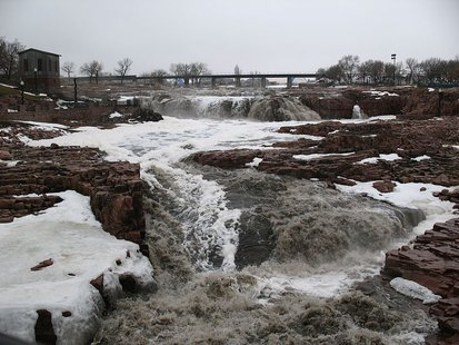 Falls of the Big Sioux River - Wikimedia photo by Jake DeGroot