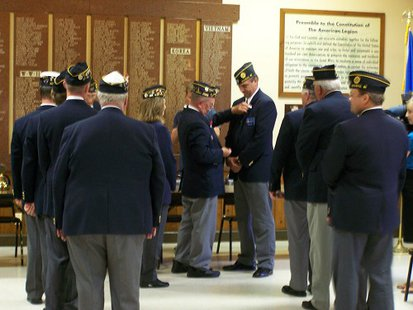 American Legion Post 10 Wausau Wisconsin award ceremony.  Photo courtesy Post 10.