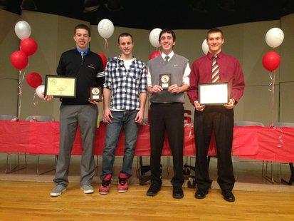 L-R: Jordan Eddy, Clark Borden, Nick Waterbury, Grant Maurer