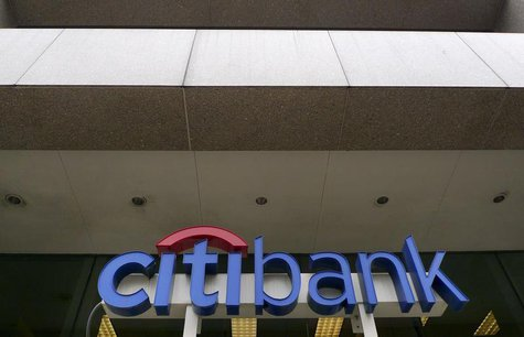 The Citibank logo is seen at branch in Washington April 18, 2011. REUTERS/Larry Downing