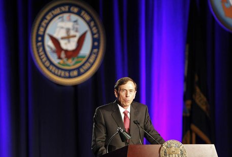 Former CIA Director and retired general David H. Petraeus speaks as the keynote speaker at the University of Southern California annual dinn