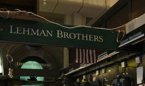 The Lehman Brothers booth on the trading floor of the New York Stock Exchange, is shown in this September 16, 2008 file photo. REUTERS/Brend