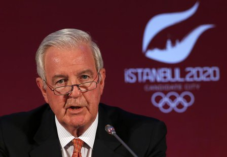 International Olympic Committee (IOC) Vice President and chairman of the IOC Evaluation Commission Craig Reedie speaks during a news confere