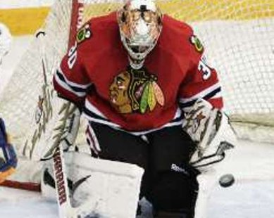 Chicago Blackhawks goalie Ray Emery REUTERS/David Stobbe