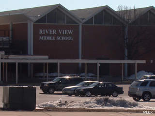 River View Middle School in Kaukauna is seen, March 27, 2013. (courtesy of FOX 11).