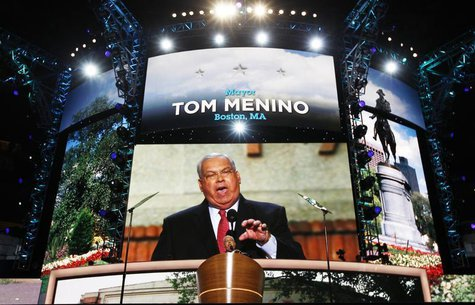 Boston mayor Tom Menino addresses the second session of Democratic National Convention in Charlotte, North Carolina, September 5, 2012. REUT